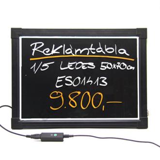 REKLÁMTÁBLA 1/5 LEDES 50 X 70 cm