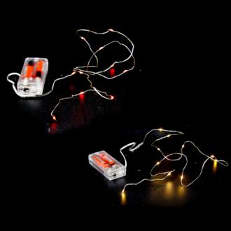 LEDFŰZÉR 10 DB-OS 1/200 DRÓTOS ELEMES 1.1 m. fehér és piros