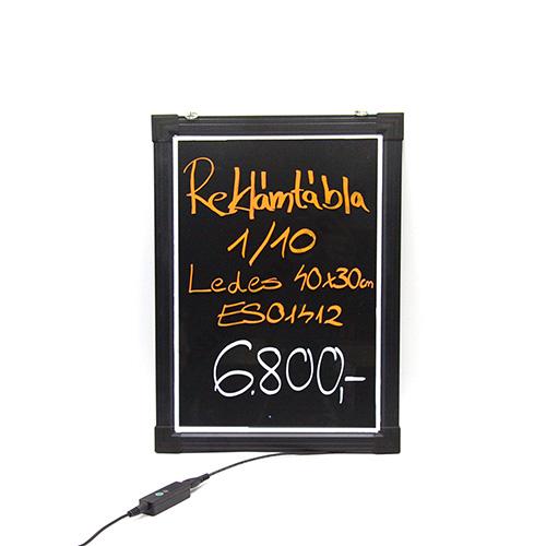 REKLÁMTÁBLA 1/10 LEDES 40x30 cm